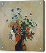 Wild Flowers Acrylic Print by Odilon Redon