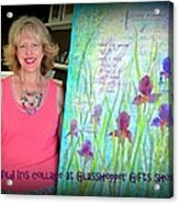 Wild Iris Collage At Glasshopper Gifts Show Acrylic Print