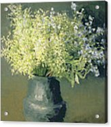 Wild Lilacs And Forget Me Nots Acrylic Print