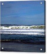 Wild Surf At Seaside Beach Acrylic Print