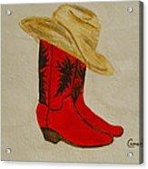 Line Dancin' Acrylic Print