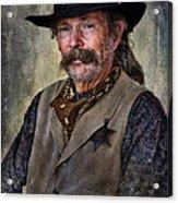 Wild West Cowboy Acrylic Print