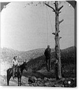 Wild West. Sheriff On Horseback Looking Acrylic Print