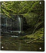 Wildcat Falls Acrylic Print by Cindy Rubin
