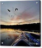 Wilderness Lake Sunset Acrylic Print