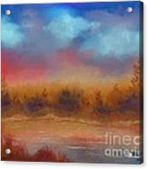 Wildfire Fire In The Sky Acrylic Print