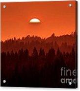 Wildfire Smoke Sunset 2 Acrylic Print