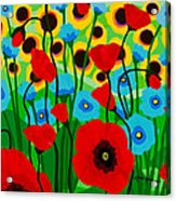 Wildflower Fiesta Acrylic Print
