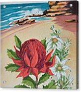 Wildflowers And Headland Acrylic Print