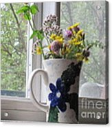 Wildflowers In Vase Acrylic Print