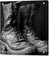 Wildland Fire Boots Still Life Acrylic Print