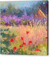Wildrain Retreat - Lavender And Poppies Acrylic Print