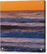 Wildwood Beach Golden Sky Acrylic Print