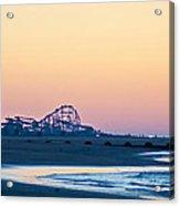 Wildwood Beach Panorama Acrylic Print