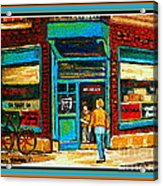 Wilenskys Art Famous Blue Door Posters Prints Cards Originals Commission Montreal Painting Cspandau  Acrylic Print