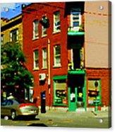 Wilenskys Famous Light Lunch Diner Corner Clark And Fairmount Montreal City Scene Carole Spandau Acrylic Print