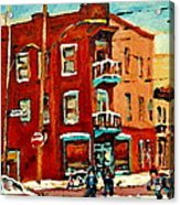 Wilenskys Hockey Art Paintings Originals Commissions Prints Montreal Deps Street Art Carole Spandau  Acrylic Print