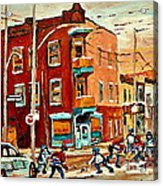 Wilenskys Paintings Hockey Art Commissions Originals Prints By Authentic Montreal Artist C Spandau Acrylic Print