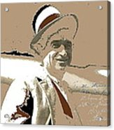 Will Rogers Informal Portrait Unknown Photographer Or Location 1924-2014  Acrylic Print