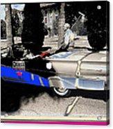Will Rogers  Jr. Grand Marshall With Polo Mallet Tucson Arizona University Of Az Centennial  1985 Acrylic Print