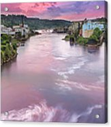 Willamette Falls During Sunset Acrylic Print
