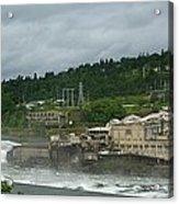 Willamette Falls River Scene  Acrylic Print