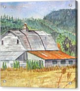 Willamette Valley Barn Acrylic Print