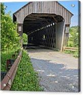 Willard Covered Bridge North Hartland Vermont Acrylic Print