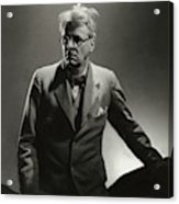 William Butler Yeats Wearing A Three-piece Suit Acrylic Print