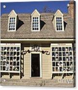 William Pitt Shop Williamsburg Virginia Acrylic Print