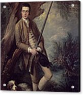 William Poyntz Of Midgham And His Dog Amber Oil On Canvas Acrylic Print