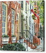 William Street Summer Acrylic Print by John Schuller