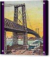 Williamsburg Bridge In New York- 1910 Acrylic Print
