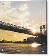Williamsburg Bridge - Sunset - New York City Acrylic Print