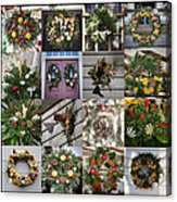 Williamsburg Christmas Collage Squared 2 Acrylic Print