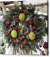Williamsburg Wreath Squared Acrylic Print