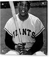 Willie Mays Acrylic Print by Gianfranco Weiss