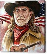 Willie Nelson American Legend Acrylic Print