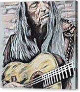 Willie Nelson Acrylic Print