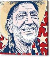 Willie Nelson Pop Art Acrylic Print by Jim Zahniser