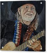 Willie Nelson Acrylic Print