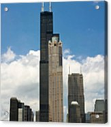 Willis Tower Aka Sears Tower Acrylic Print by Adam Romanowicz