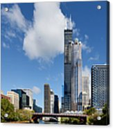 Willis Tower And 311 South Wacker Drive Chicago Acrylic Print