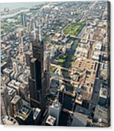 Willis Tower Southwest Chicago Aloft Acrylic Print