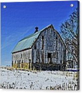 Willow Barn Painting Acrylic Print
