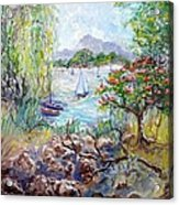 Willow By The Sea Acrylic Print