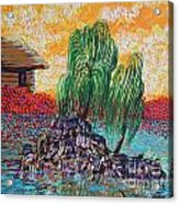 Willow Tree Isle Acrylic Print