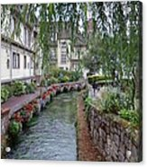 Willows Over The River Acrylic Print