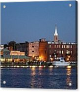 Wilmington At Night Acrylic Print
