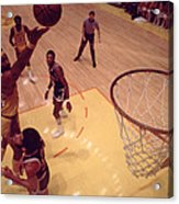 Wilt Chamberlain Finger Roll  Acrylic Print by Retro Images Archive